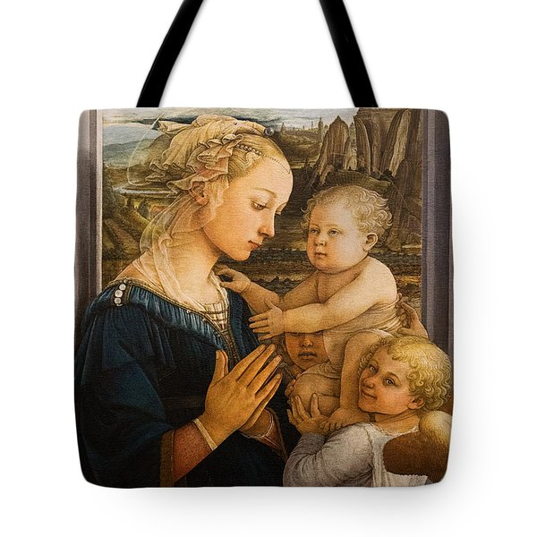 Florence - Madonna And Child With Angels- Filippo Lippi Tote Bag