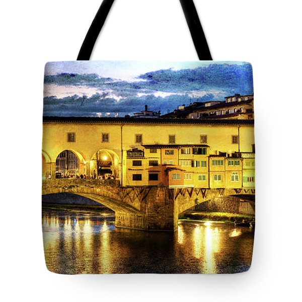 Florence - Ponte Vecchio Sunset From The Oltrarno - Vintage Version Tote Bag