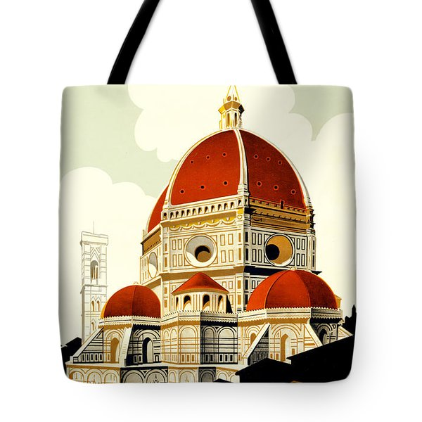 Florence Travel Poster Tote Bag