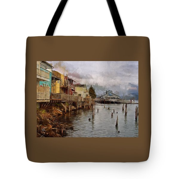 Scene On The Siuslaw  Tote Bag