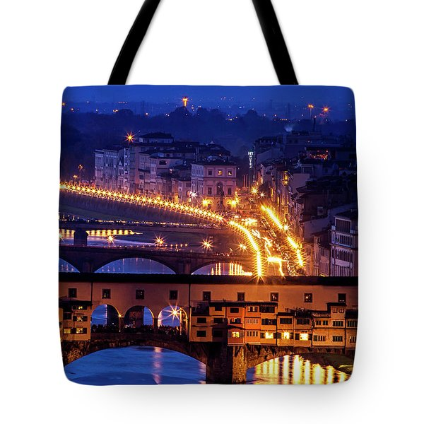 Tote Bag featuring the photograph Florentine Strands by Andrew Soundarajan