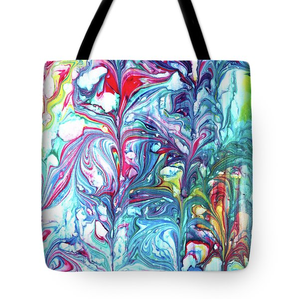 Tote Bag featuring the mixed media Florescence by Tom Druin