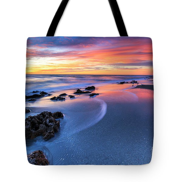Florida Beach Sunset 4 Tote Bag