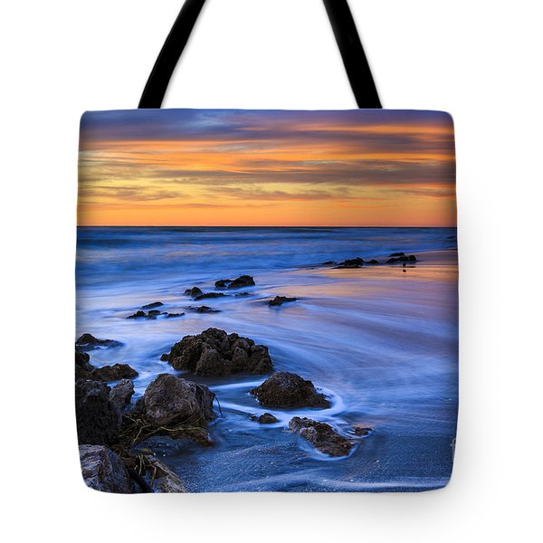 Florida Beach Sunset Tote Bag