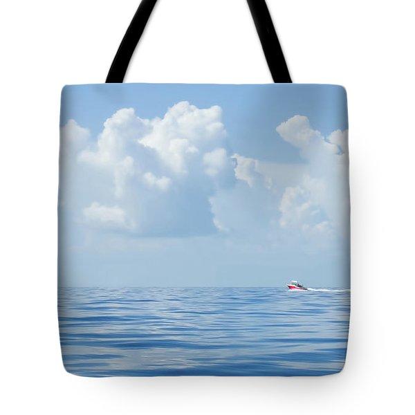 Florida Keys Clouds And Ocean Tote Bag