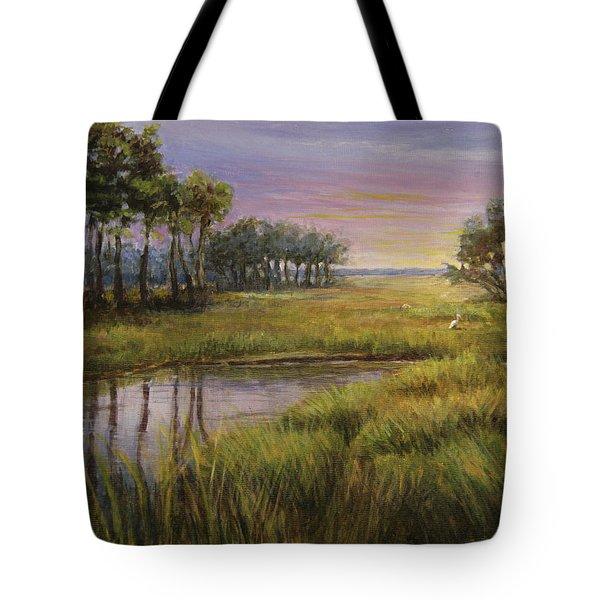 Florida Marsh Sunset Tote Bag