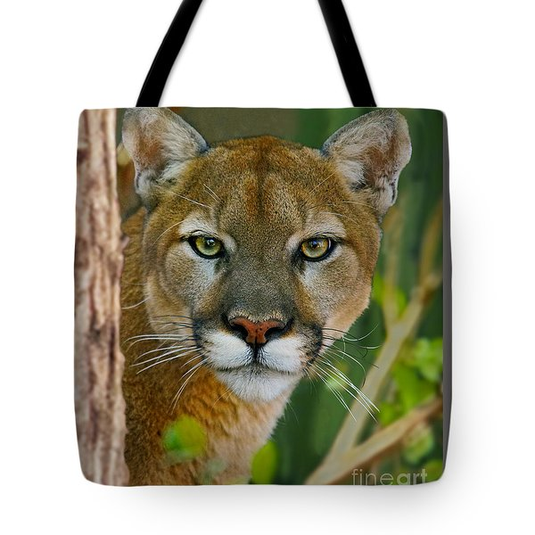 Florida Panther Tote Bag by Larry Nieland