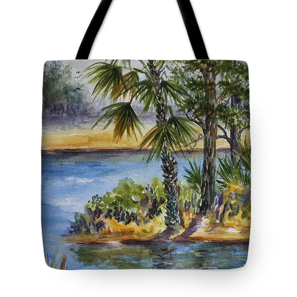 Florida Pine Inlet Tote Bag