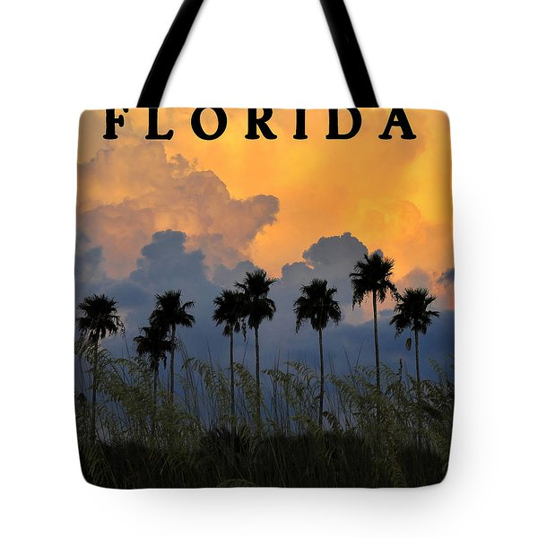 Florida Poster Tote Bag by David Lee Thompson