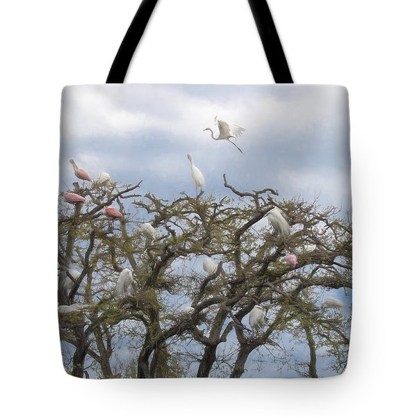 Florida Rookery Tote Bag by Kelly Marquardt