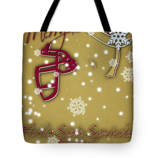 Florida State Seminoles Christmas Card 2 Tote Bag