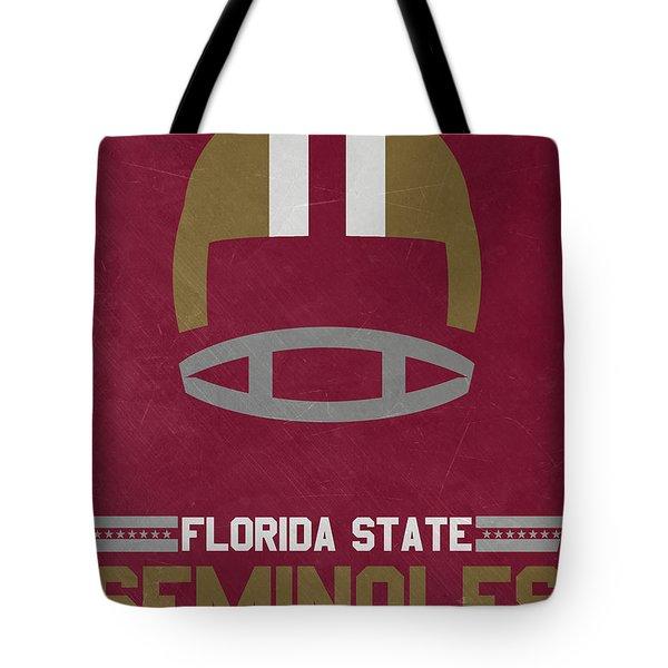 Florida State Seminoles Vintage Football Art Tote Bag