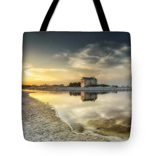 Florida Sunrise - Stillness Tote Bag by Cathy Neth