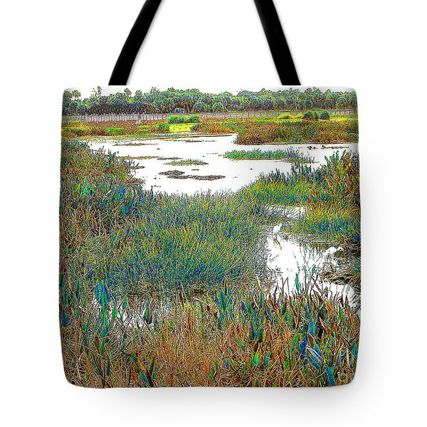 Tote Bag featuring the photograph Florida Wetlands by Merton Allen