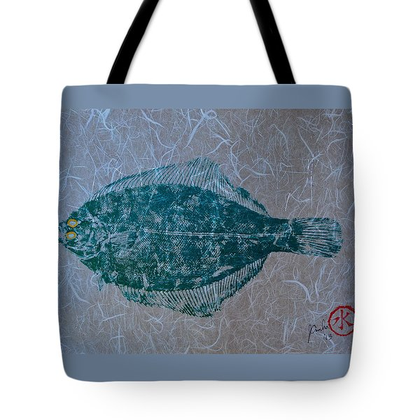 Flounder - Winter Flounder - Black Back Tote Bag