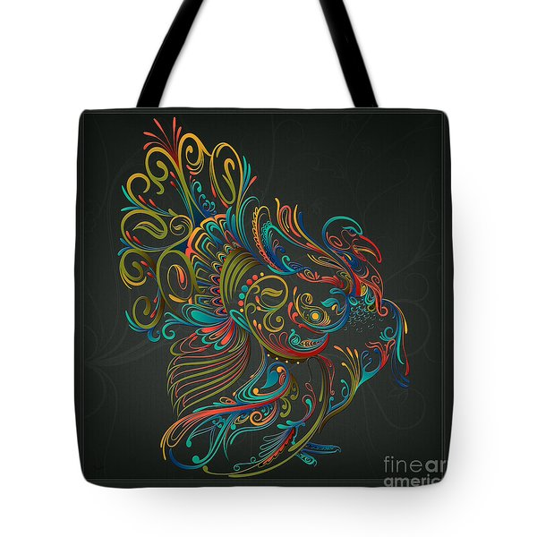 Flourish Turkey Tote Bag