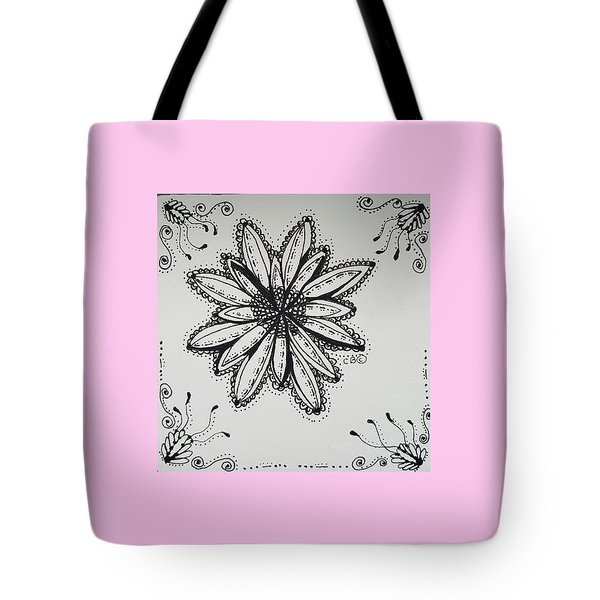 Tote Bag featuring the drawing Flow by Carole Brecht