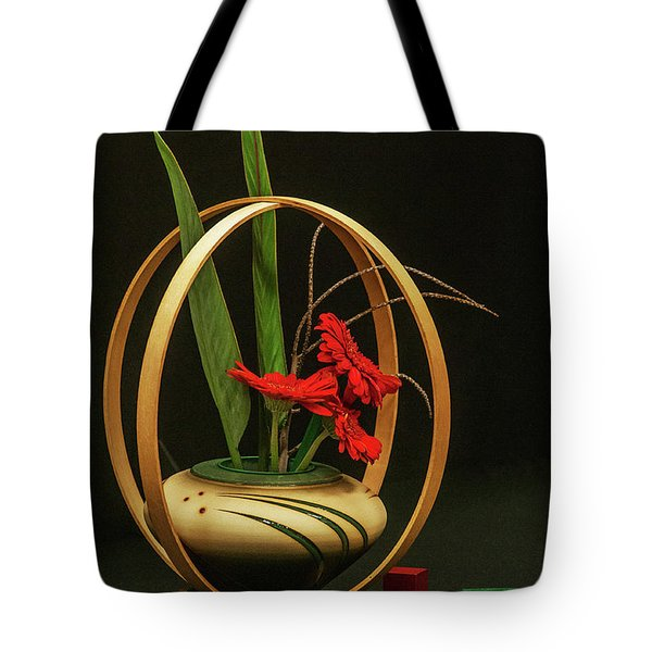 Tote Bag featuring the photograph Flow Ikebana by Carolyn Dalessandro