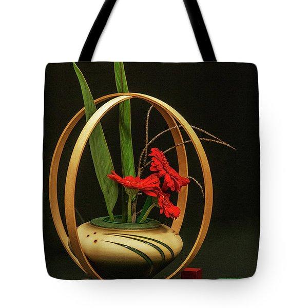 Flow Ikebana Tote Bag by Carolyn Dalessandro