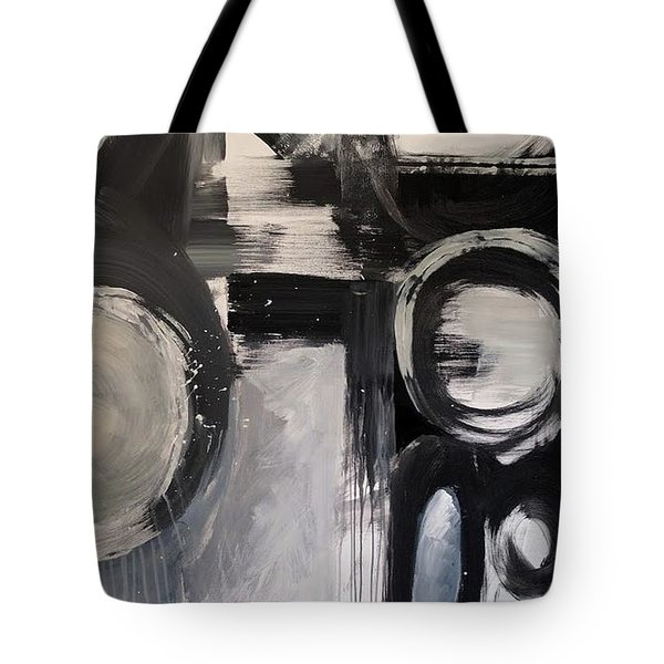 Tote Bag featuring the painting Flow by Jillian Goldberg