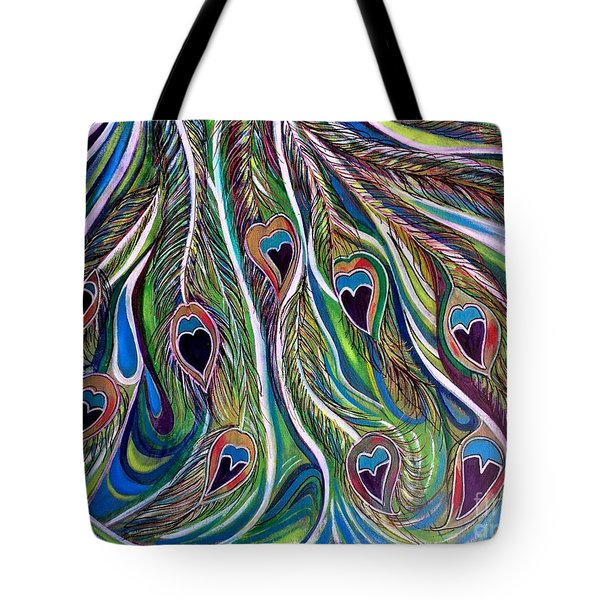 Flow Of Grace Tote Bag by Julie Hoyle
