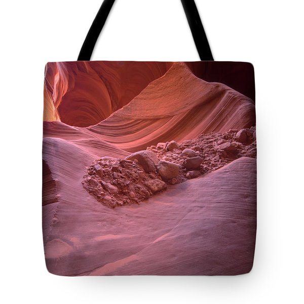 Flow Of Rocks Tote Bag by Paul Cannon