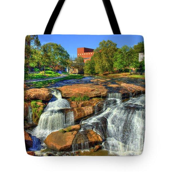Flow On Reedy River Falls Park Art Greenville South Carolina Art Tote Bag