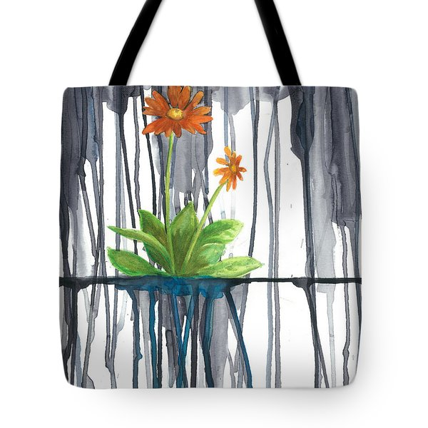 Flower #1 Tote Bag by Rebecca Childs