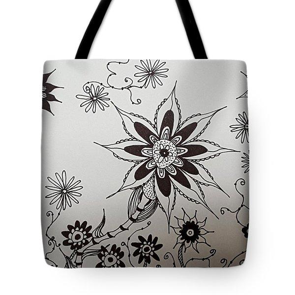 Flower 10 Tote Bag