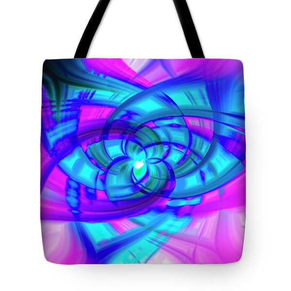 Tote Bag featuring the photograph Flower Abstract by Penny Lisowski