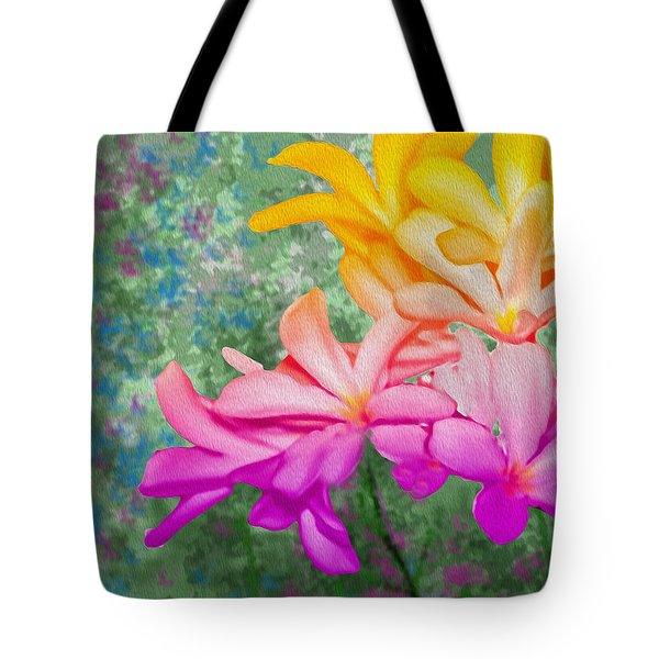 God Made Art In Flowers Tote Bag