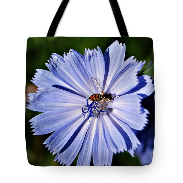 Flower And Bee 2 Tote Bag by Joe Faherty