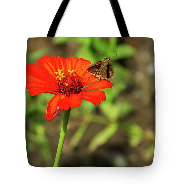 Flower And Friend Tote Bag
