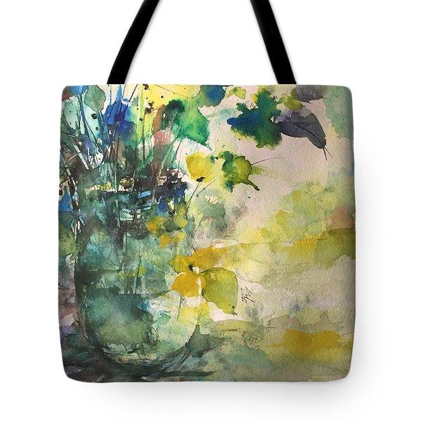 Flower And Vase Stilllife  Tote Bag