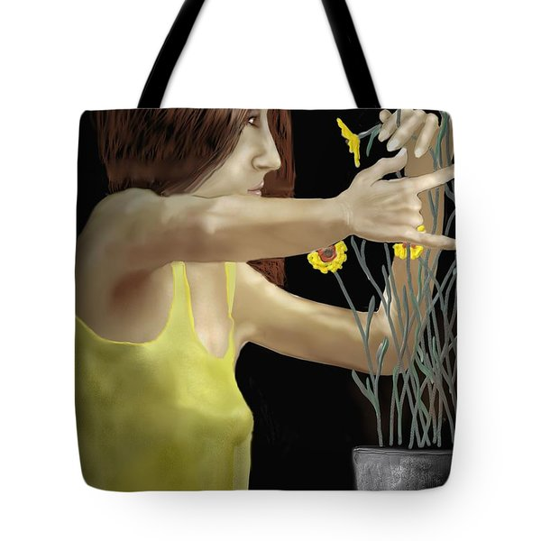 Flower Arranger Tote Bag by Kerry Beverly