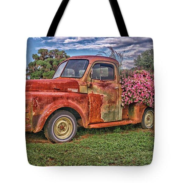 Dodge Flower Bed Tote Bag