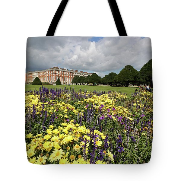 Flower Bed Hampton Court Palace Tote Bag