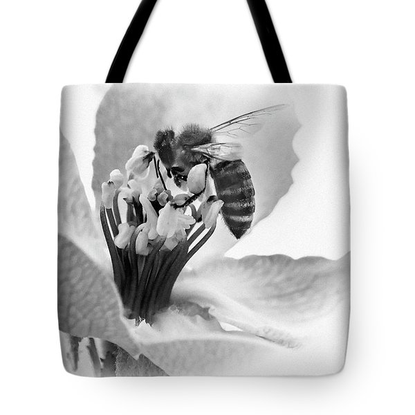 Tote Bag featuring the photograph Flower Bee by Cliff Norton