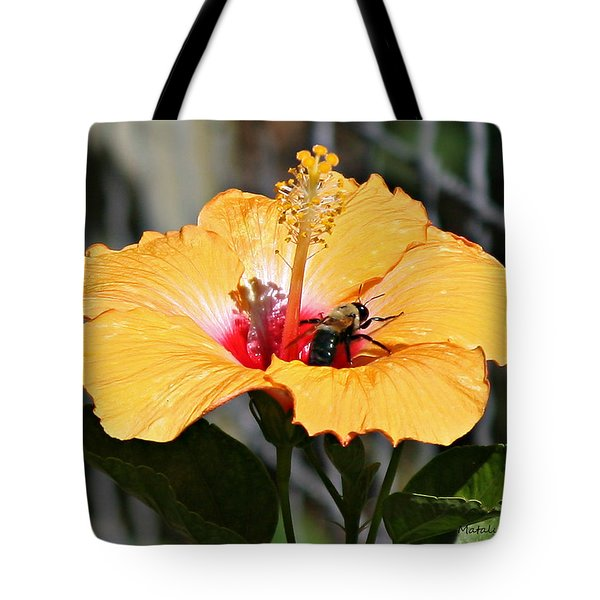 Flower Bee Tote Bag