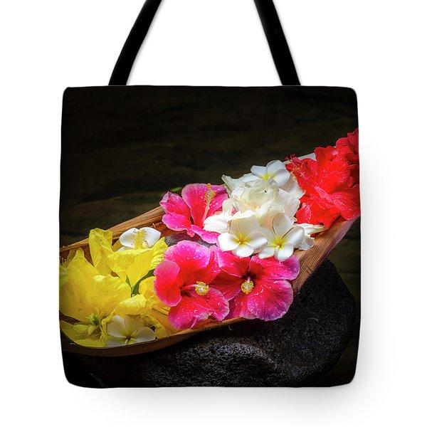 Flower Boat Tote Bag