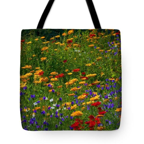 Flower Border - Durham Botanic Garden Tote Bag