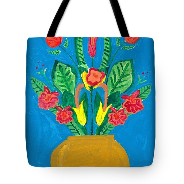Flower Bowl Tote Bag