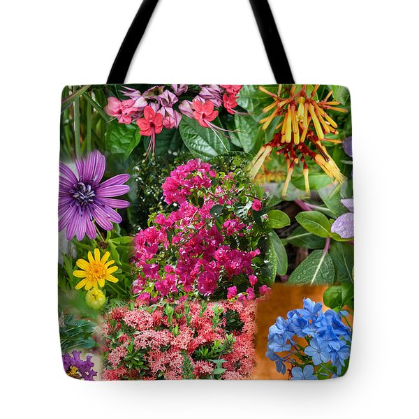 Tote Bag featuring the photograph Flower Collage by Geraldine Alexander