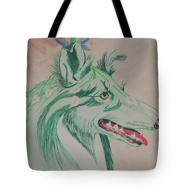 Flower Dog # 11 Tote Bag