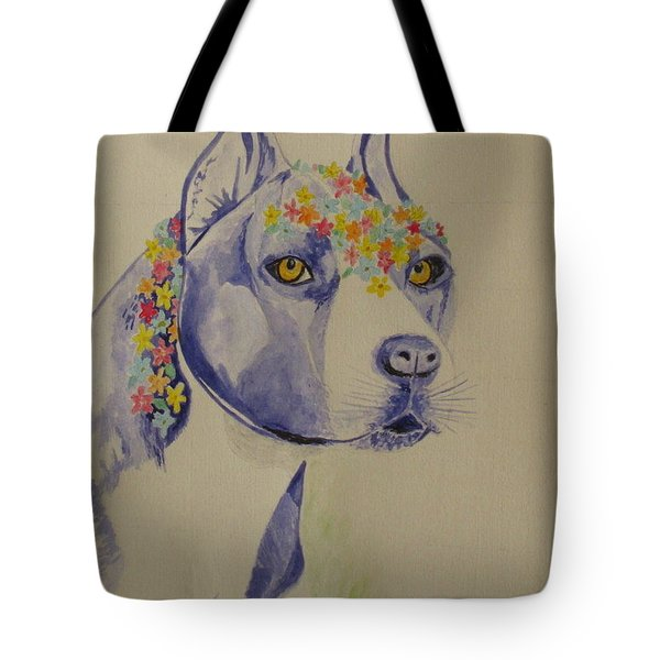 Tote Bag featuring the photograph Flower Dog 1 by Hilda and Jose Garrancho