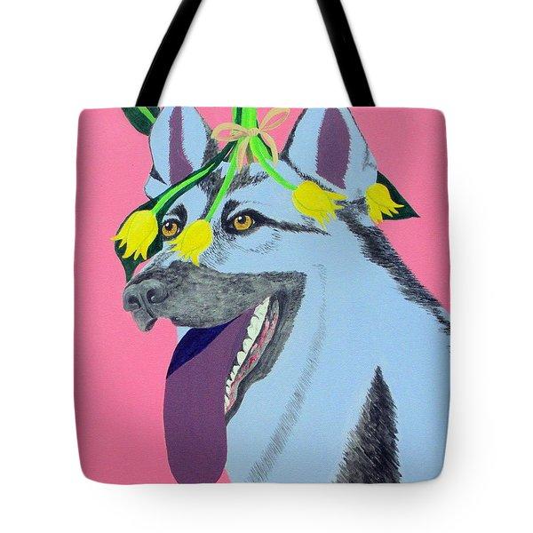 Flower Dog 4 Tote Bag