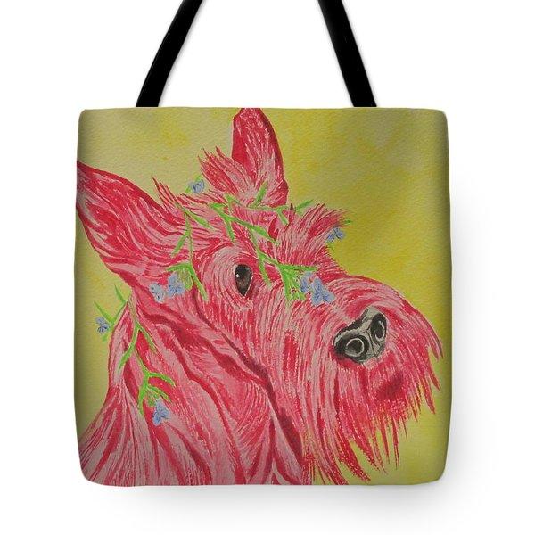 Flower Dog 6 Tote Bag
