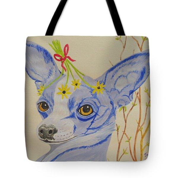 Flower Dog 7 Tote Bag