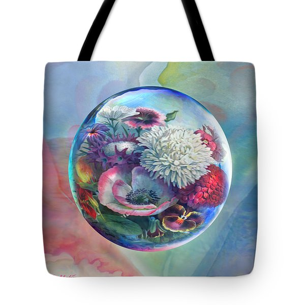 Flower Drop Blues Tote Bag