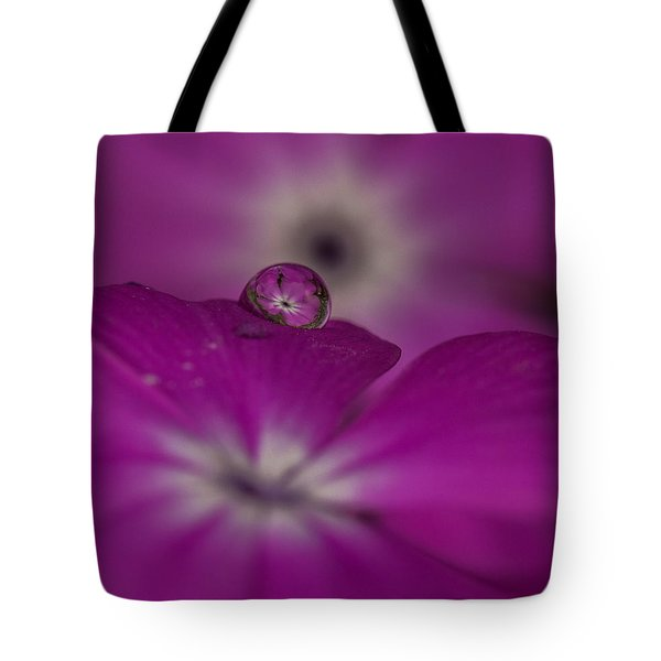 Flower Drop Tote Bag